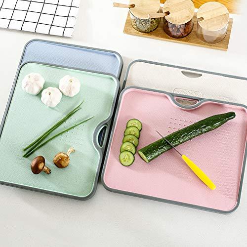 HELEVIA Planche à découper Eco Wheat Straw Planche à découper Rectangle Planche à découper avec broyage Ail Outil Cuisine Gadgets Accessoires