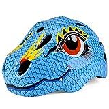 Juanya Kids Helmet for Age 3-10 Toddler Cartoon Animal Dinosaur Helmet Adjustable Size Safety Bike Skateboard Ski Scooter Roller Girls Boys Helmets (Blue)