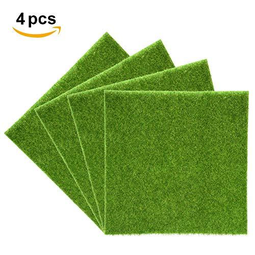 Yosoo Kunstrasen-Matte, Kunststoff, für Innen- und Außenbereich, Grün