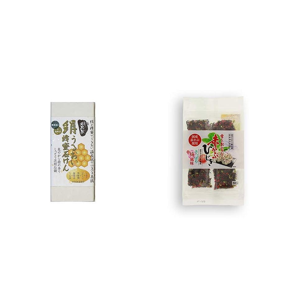 提供された艦隊誓約[2点セット] ひのき炭黒泉 絹うるおい蜂蜜石けん(75g×2)?楽しいおにぎり 赤かぶひじき(8g×8袋)