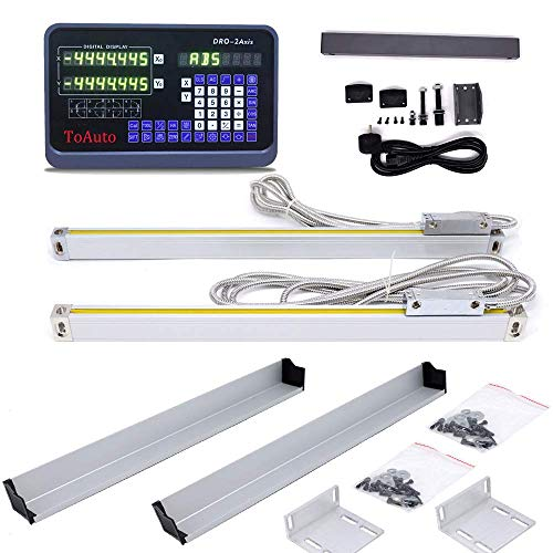 8'' 38'' 2 Axis Digital Readout Linear Scale DRO Display CNC Milling Lathe Encoder 200mm+950mm,US Stock 2-6 Business Days