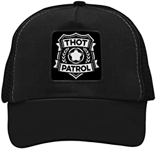 Thot Patrol is On The Case Baseball Hat Adjustable Mesh Trucker Cap for Unisex