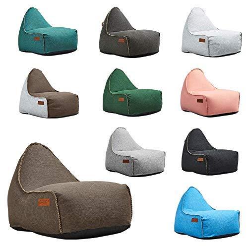 SACKit - RETROit Cobana - Outdoor/Indoor Sitzsack & Sessel mit Lehne - Perfekt für die Lounge, draußen im Garten oder Balkon - Kombinerbar mit einem Hocker - Dänisches Design - Braun