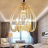 WEM Novedad Lámpara de techo, Jane European Cognac Vela Lámpara de araña de cristal Proyecto de hotel Restaurante creativo Bar Iluminación de pasillos Lámparas de cristal al por mayor, Enviar luz, Se