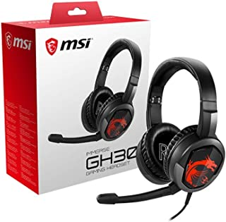 MSI Gaming Detachable Microphone Lightweight and Foldable Headband Design 7.1 Surround Sound Stereo Gaming Headphone (Imme...