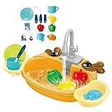 SoeHong Simulación de cocina fregadero utensilios de cocina, los niños fingen jugar mini cocina lavabo juguete juego de rol casa juguetes educativos