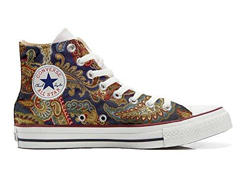 Unbekannt Sneaker & Sportschuhe USA - Base Print Vintage 1200dpi - Italian Style - Hi Customized personalisierte Schuhe (Handwerk Schuhe) High Size 38 EU