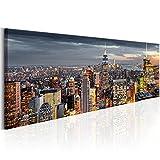 murando Handart Cuadro en Lienzo Nueva York City NY 150x50 cm 1 Pieza Cuadros Decoracion Salon Modernos Dormitorio Impresión Pintura Moderna Arte New York NY Ciudad City d-B-0068-b-d