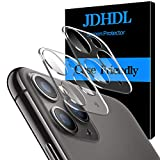 [2 Pack] JDHDL Camera Lens Protector for iPhone 11 Pro 5.8' / iPhone 11 Pro Max 6.5' HD Clear Tempered Glass 3D Oneness, Easy Install, 9H Hardness, Anti-Scratch with Replacement Warranty