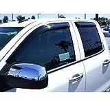 Razer Auto Smoke Window Visor/Wind Deflectors for 2014-2015 Chevy Silverado 1500/2015 Chevy Silverado 2500HD / 3500 HD / 2014-2015 GMC Sierra 1500/2015 GMC Sierra 2500HD ETC. Extended Cab Only