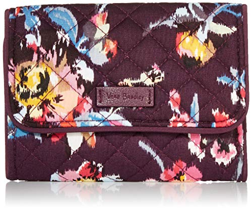 Vera Bradley Signature Cotton Riley Compact Wallet with RFID Protection, Indiana Rose