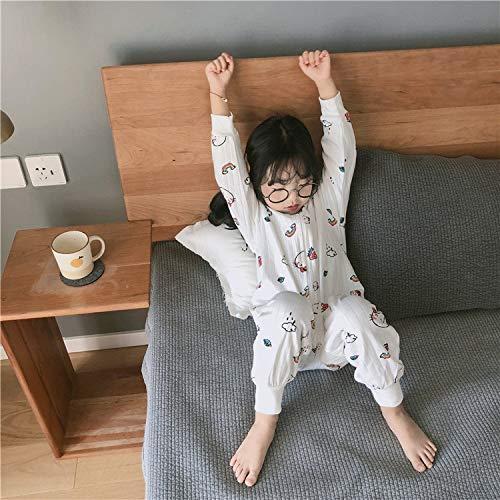 HELIn Babyslaapzak - Slaap winter herfst Van toepassing op 0-6 jaar. Draagbare slaapzak van biologisch katoen, uniseks babyveilig (Color : B, Size : 90)