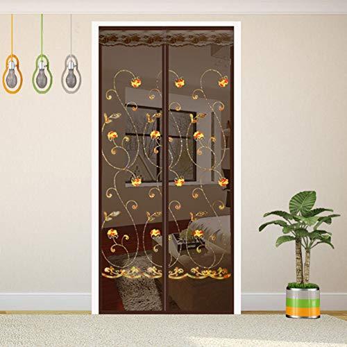 LSS Magnet Fliegengittertür Insektenschutzgitter, Der magnetische Vorhang ist ideal für die Balkontür, die Kellertür und die Terrassentür,B_180*220cm