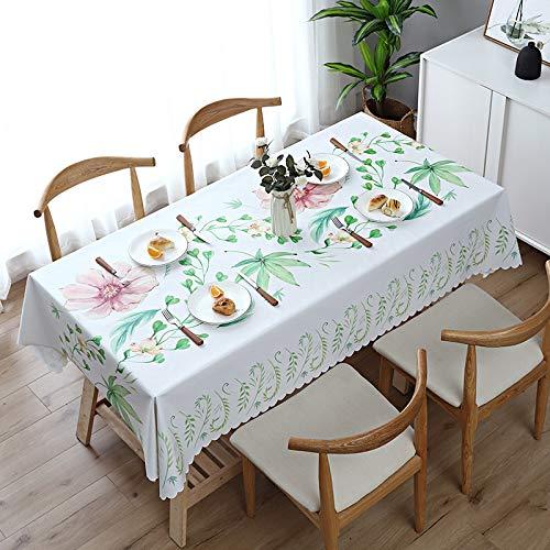 JIALIANG Adatto per cucina, pic-nic, all'aperto, interno, tovaglia lavabile, panno in plastica PVC, panno di pulizia, copertura impermeabile per tavolo, pad di protezione, 140 x 140 cm