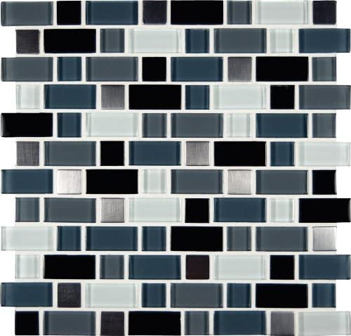 Ms International Crystal Cove 12 In X 12 In Glass Blend Mesh Mounted Mosaic Tile Box Of 5 Tiles