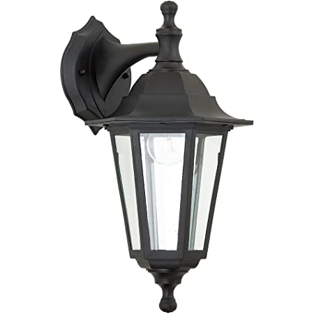 Mayflower Traditional Style Black Outdoor Garden Security Porch Weatherproof Wall Light Lantern IP44 Rated Reversible