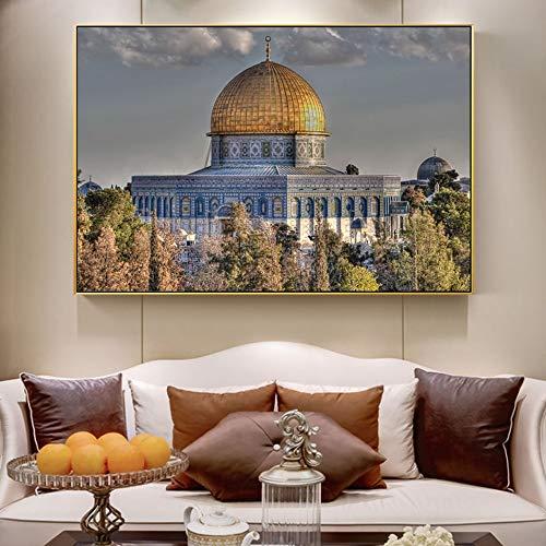 Puzzle 1000 Piezas Mezquita Arte Realismo Mezquita Pintura Art Deco Pintura Imagen Musulmana Puzzle 1000 Piezas educa Rompecabezas de Juguete de descompresión intelectual50x75cm(20x30inch)