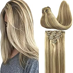 ombre blonde clip in hair extension