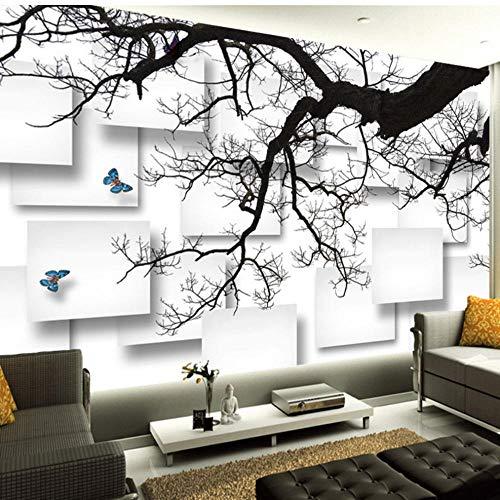 Guokaixyz fotobehang, fotobehang, zwart, boerderij, 3D stereo rooster, wandschilderij voor de woonkamer, sofa, tv, achtergrond decor, behang, schilderij vlies 300x210cm