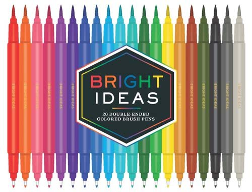Bright Ideas Double-Ended Colored Brush Pens: 20 Colored Pens: (Dual Brush Pens, Brush Pens for Lettering, Brush Pens with Dual Tips)