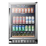 24 Inch 110 Cans, Sinoartizan Built-in Beverage Cooler Refrigerator