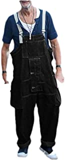 MogogNMen Multi-Pockets Relaxed-Fit Stylish Straight Fashion Bib Overall