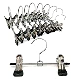 NHW A Pack of 10 Portable Travel Clips Hangers Chrome Finished Adjustable Clips Boots Hangers Ultra Thin Space Saving Boots Socks Bags Hanging Clips Boot Storage (5)