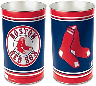 WinCraft MLB Boston Red Sox Tapered Wastebasket, 15