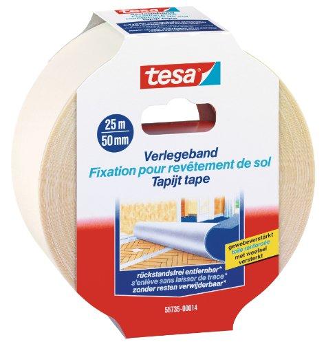 Tesa Set risparmio: 10X 55735–14–00–Nastro professionale, senza residui 25m: 50mm