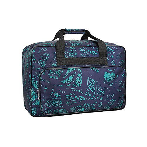 Waterproof Nylon Sewing Machine Tote Bag Sewing Machine Storage Bag Travel Portable Sewing Machine Hand Bags Carrying Case w/ Pockets & Handle for Standard Sewing Machines & Sewing Accessories (Green)