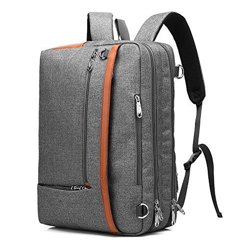 beibao shop Backpack Ordinateur Portable Sac à Dos (17.3) Loisir Polyvalent Sacs à Dos Sac à bandoulière Pack de Messager Porte-Documents Sac à Main Extérieur Voyage Forfait, Grey