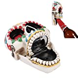 Pacific Trading Day of The Dead Skull Wall Mounted Bottle Opener Figurine Made of Polyresin