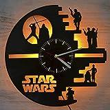 Star Wars Reloj de Pared de Vinilo con luz led Star Wars Reloj de Pared con luz de Vinilo Decoración de la Pared Interior La Mejor Idea Interior decoración Interior única