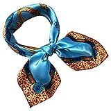 Watopi Foulard Carré Satin Sensation de soie formelle Foulard carré Bandages Cheveux Tête Foulard foulard
