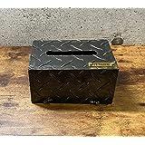 ティッシュケース シマイタボックス 縞板素材 重厚感 アンティークテイスト 日本製 タナカセイサクショ (小)