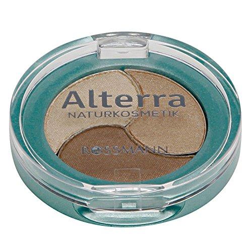 Alterra Trio Lidschatten 1 Stück Farbe 01: Cacao Sensation, ohne synthetische Konservierungsstoffe, kontaktlinsenverträglich, zertifizierte Naturkosmetik