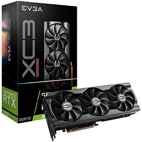 EVGA GeForce RTX 3070 XC3 Ultra Gaming, 08G-P5-3755-KR, 8GB GDDR6, iCX3 Cooling, ARGB LED, Metal Backplate