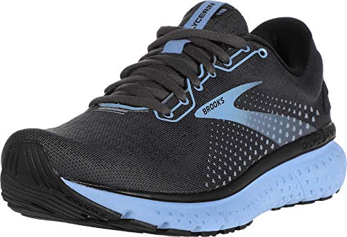Brooks Women's Glycerin 18, Black/Blue, 9 Medium