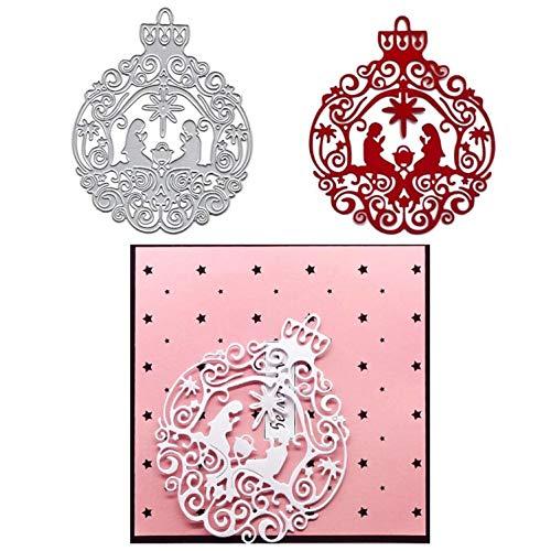 Nativity Ornament Cutting Dies ,DIY Scrapbooking Artist Metal Cutting Dies Stencils Scrapbooking Steel Craft Die Cuts Paper Art Emboss Card Making Stencil 103x128mm