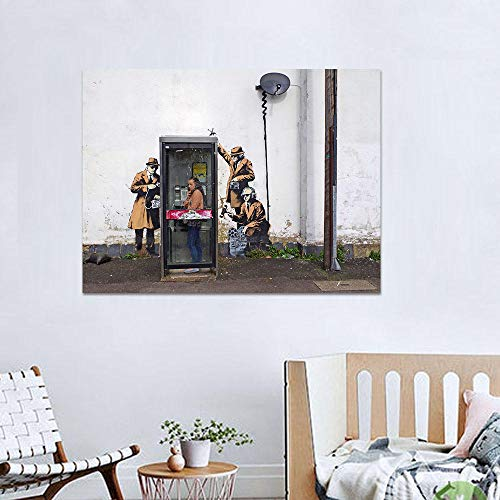 NOBRAND Telefoonruimte, monitor Personen, affiches en wandafbeeldingen in de woonkamer wand Art Deco Canvas zonder lijst, 30 x 40 cm