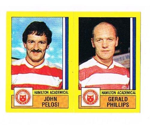 No.518 Gerald Phillips / John Pelosi of Hamilton Academical - Football 87 - Panini - English & Scottish League
