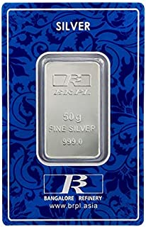 Bangalore Refinery 999 Purity Silver Bar 50 Gram
