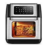 CROWNFUL 9-in-1 Air Fryer Toaster Oven, Convection Roaster with Rotisserie & Dehydrator, 10.6 Quart, Digital...
