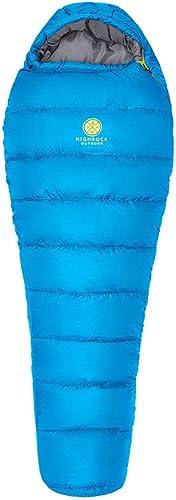 Leger Sac de Couchage Coton de Survie froidimpermeable Sac de couchageSac de Couchage de Camping en Plein air -10 degrés Bleu