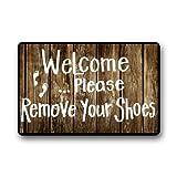 Quality Guaranteed Welcome Please remove your shoes Doormat Custom Indoor/Outdoor Doormat-026 by Door Mat