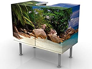 Apalis 53460 Waschbeckenunterschrank Honeymoon in Hawaii, 60 x 55 x 35 cm