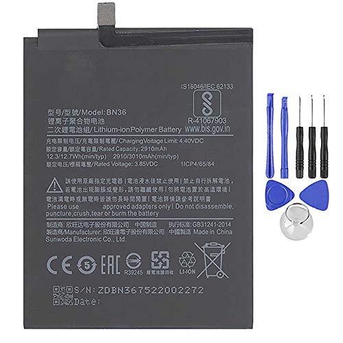 Ellenne Batería compatible con Xiaomi Redmi Mi A2-6X BN36 3010 mAh con kit de desmontaje incluido