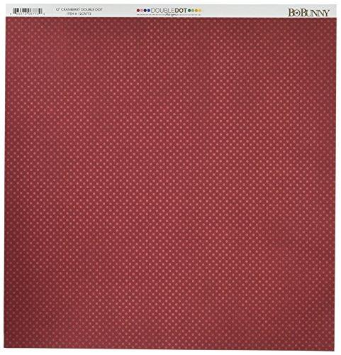 Bo Bunny DD Double Dot Paper 12x12 Cranberry -  Bazzill, BBU067739