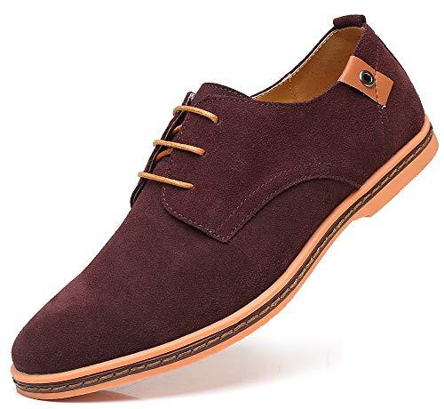 CAGAYA Hombre Zapatos Oxford Cordones Informal Negocios Boda Calzado Estilo Británico Comodidad...