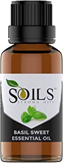 Sweet Basil Essential Oil 1 Oz (30 ML) - 100% Pure,Natural,Therapeutic Grade By Strong Oils | Perfect for Aromatherapy,Massage,fight fatigues and More